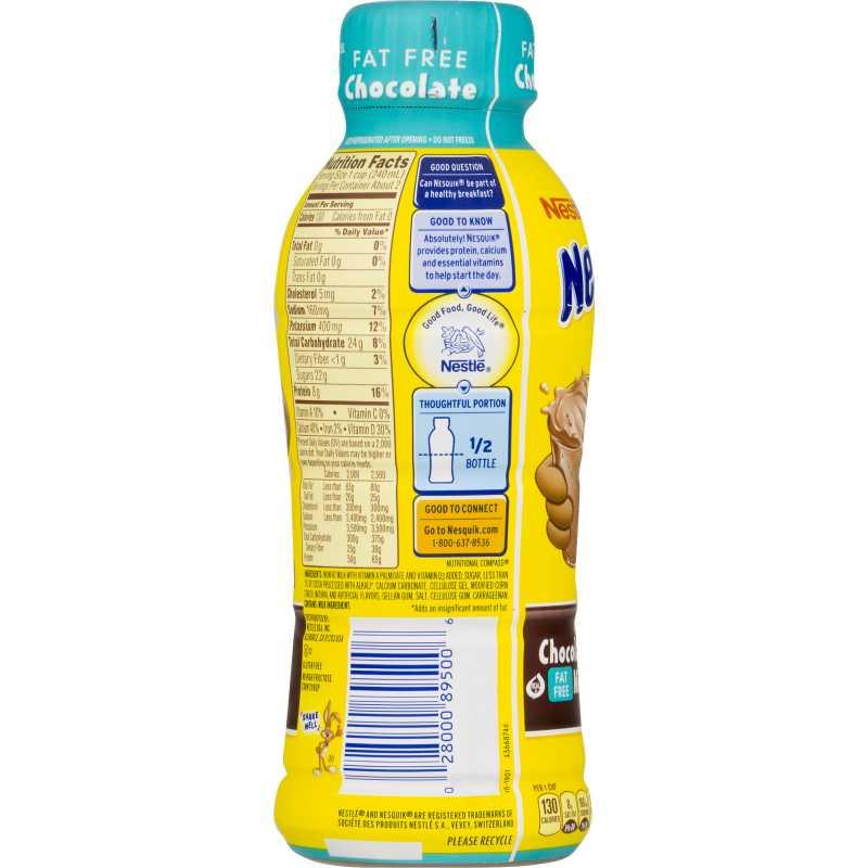 Nestle Nesquik Chocolate Milk Fat