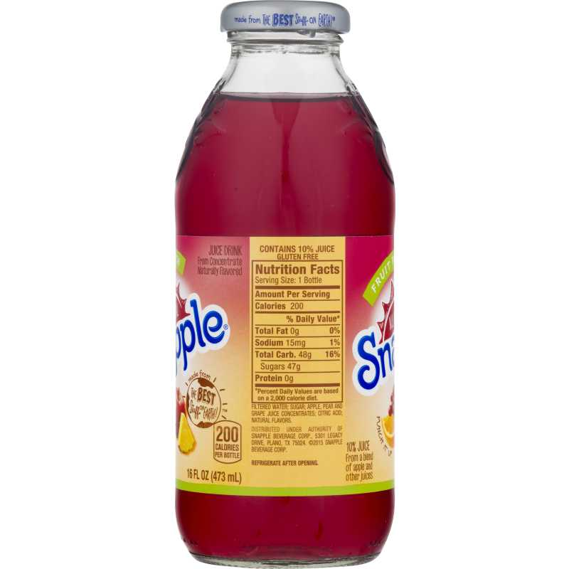 Snapple All Natural Fruit Punch Juice Drink